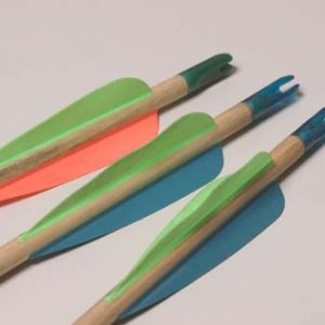 Traditional wood arrows 10 pieces with plastic nock for kids-0