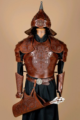 Traditional Hungarian leather armor