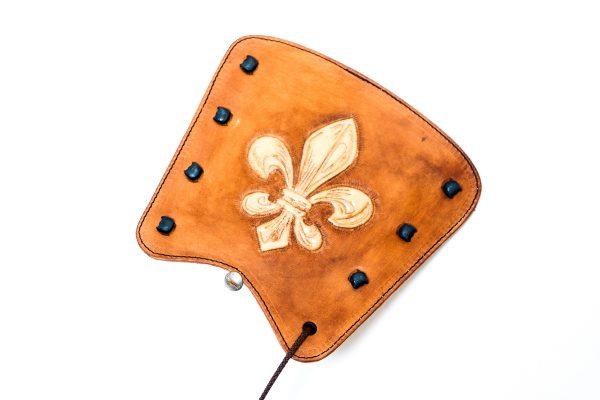Printed leather armguard